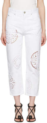 Isabel Marant White Ronnie Broderie Anglaise Jeans