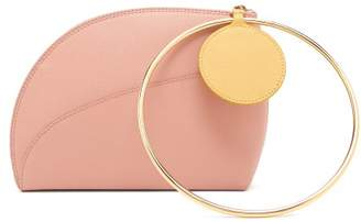 Roksanda Eartha Dot Bi Colour Leather Clutch - Womens - Light Pink