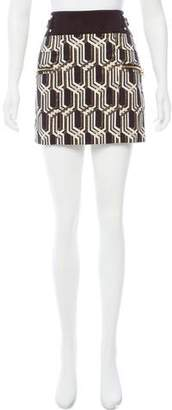 Genetic x Liberty Ross Jacquard Buckle-Accented Skirt