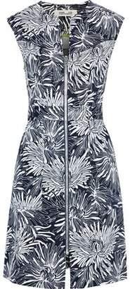 Diane von Furstenberg Floral-Print Stretch-Cotton Twill Mini Dress