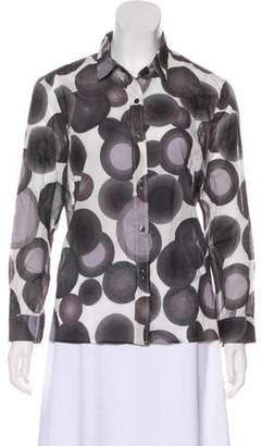 Dries Van Noten Printed Button-Up Top