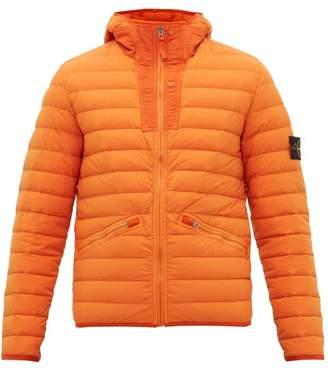 Stone Island Lightweight Down Filled Hooded Coat - Mens - Orange