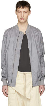 Rick Owens Grey Flight Jacket