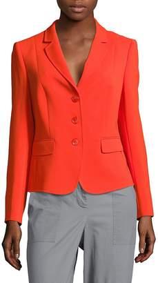 Basler Women's Solid Notch-Lapel Jacket