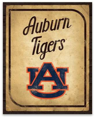 NCAA Auburn Tigers Vintage Card Printed Canvas