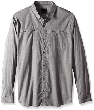 Tavik Men's Shin Long Sleeve Shirt, Grey