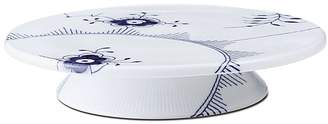 Royal Copenhagen Blue Fluted Mega Footed Cake Plate, 12.5""