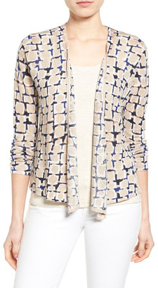 NIC+ZOE Loopy Linen Blend Four-Way Convertible Cardigan $138 thestylecure.com