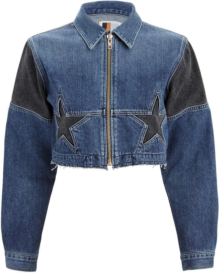 Jean Toni Cropped Denim Jacket