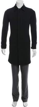 Giorgio Armani Knit Button-Up Overcoat