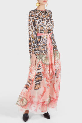 Temperley London Quartz Printed Bow Dress