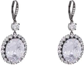 Nina Halo Drop Crystal Earrings