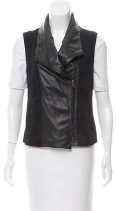 Vince Casual Leather-Accented Vest