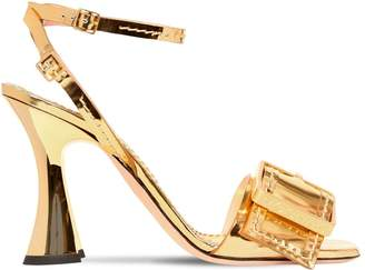 Rochas 100mm Buckled Patent Leather Sandals