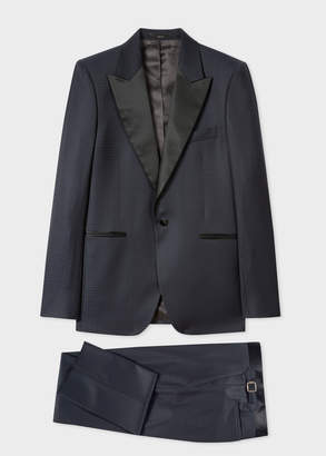 Paul Smith The Soho - Men's Tailored-Fit Navy Houndstooth Evening Suit
