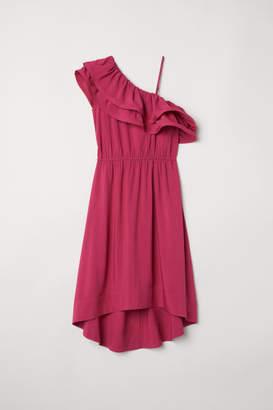 H&M One-shoulder Dress - Pink