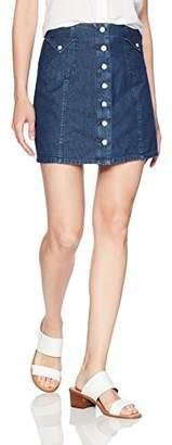 Obey Women's Hudson High Waisted Skirt