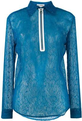 Each X Other zip front lace blouse