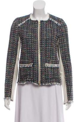 Ramy Brook Tweed Leather-Accented Jacket