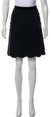 Tory Burch Scalloped Knee-Length Skirt