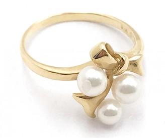 Mikimoto Yellow gold ring