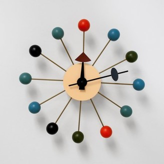 Mod Made Bubble Multi-Color Mid Century Modern Wall Clock