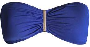 MICHAEL Michael Kors Ruched Bandeau Bikini Top