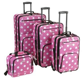 Rockland Luggage Galleria 4 Piece Softside Expandable Luggage Set F46