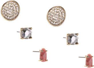 Kelly & Katie Stone Stud Earring Set - 3 Pack - Women's
