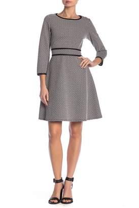 Max Studio Fit & Flare Jacquard Knit Dress