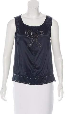Marc by Marc Jacobs Embellished Silk Top