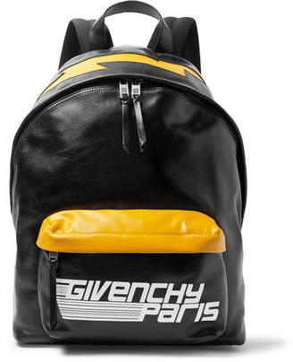 Givenchy Logo-Print Leather Backpack - Black