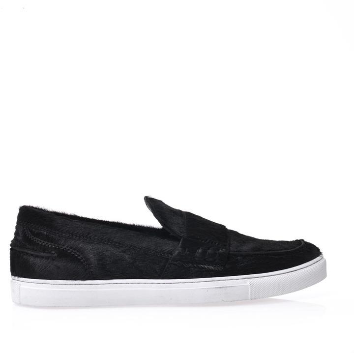 Giambattista Valli Calf hair flat skater shoes