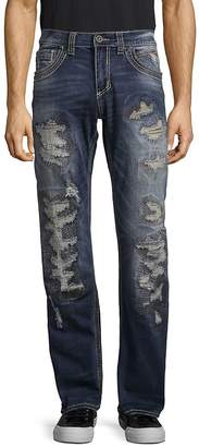 Affliction Men's Distressed Washed Jeans