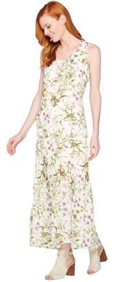 C. Wonder Petite Botanical Floral Print Maxi Dress