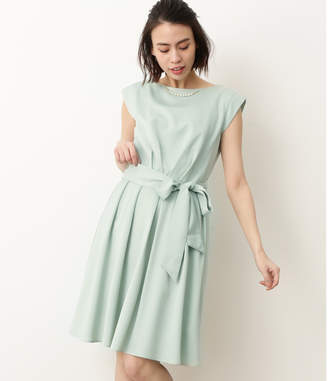 ViS (ビス) - ビス 【WEDDINGS&PARTIES】ネックレス付きウエストリボンタックドレス