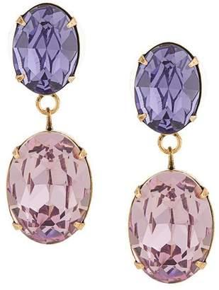 Jennifer Behr rhinestone drop earrings