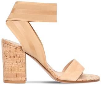 Gianvito Rossi 85mm Suede & Elastic Sandals
