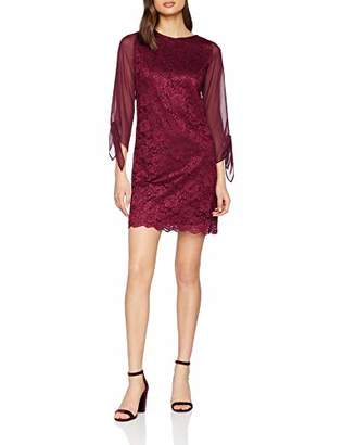 Dorothy Perkins Women's Mulberry lace Shift Dress,(Manufacturer Size:)