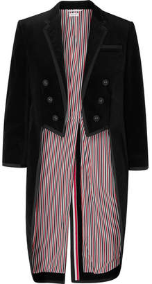 Thom Browne Grosgrain-trimmed Cotton-velvet Tuxedo Jacket - Black