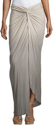Young Fabulous and Broke Kulani Knotted Ombre Maxi Skirt, Tan Olive Ombre $119 thestylecure.com