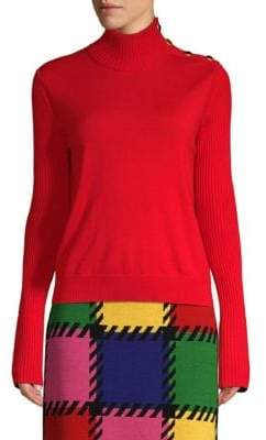 Escada Sport Rib-Knit Turtleneck Sweater
