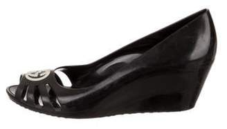 Gucci Jelly Wedge Pumps Black Jelly Wedge Pumps