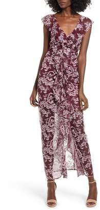 WAYF Marie Ruffle Maxi Dress