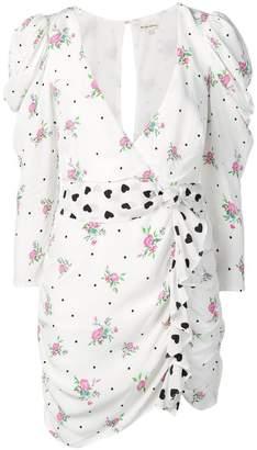 For Love & Lemons ruched print dress