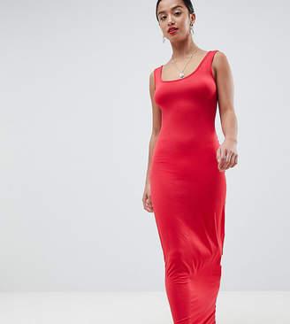boohoo Petite Scoop Neck Maxi Dress