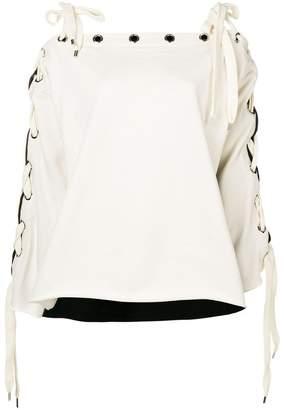 Philosophy di Lorenzo Serafini lace-up sleeves detail jumper