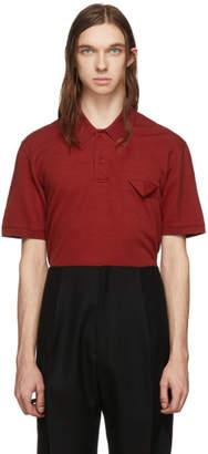 Bottega Veneta Red Cotton Pique Polo