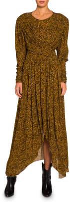 Isabel Marant Floral-Print Jersey Asymmetric Dress