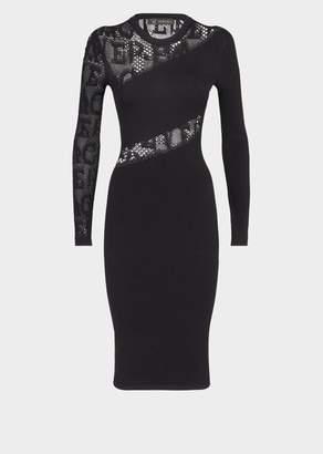 Versace Alphabet Lace Insert Dress